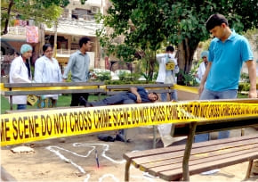 Outdoor Crime Scene : Accident